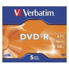 DVD-R VERBATIM 4.7GB 5U