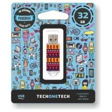 PENDRIVE TECH1TECH-TRIBAL 32GB